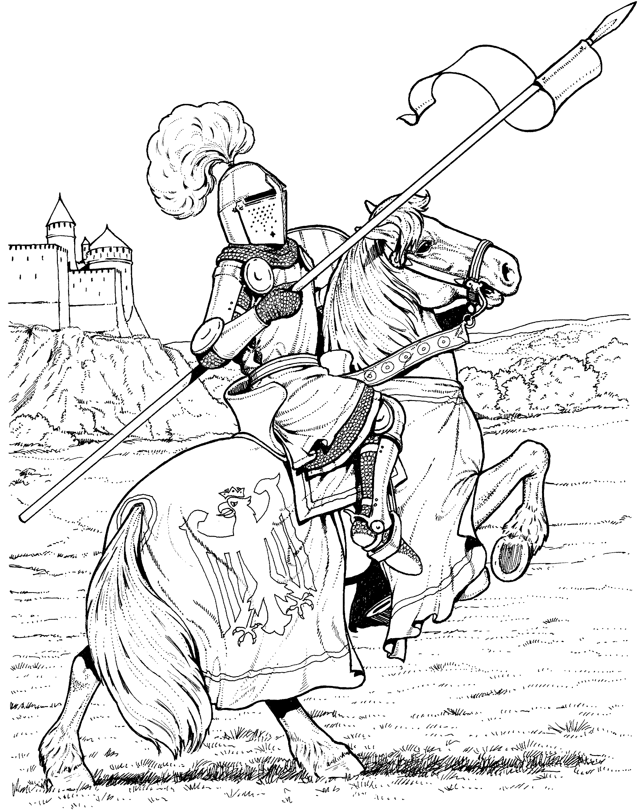 castle and knight coloring pages knights castles coloring 2 woo jr kids activities castle coloring pages knight and