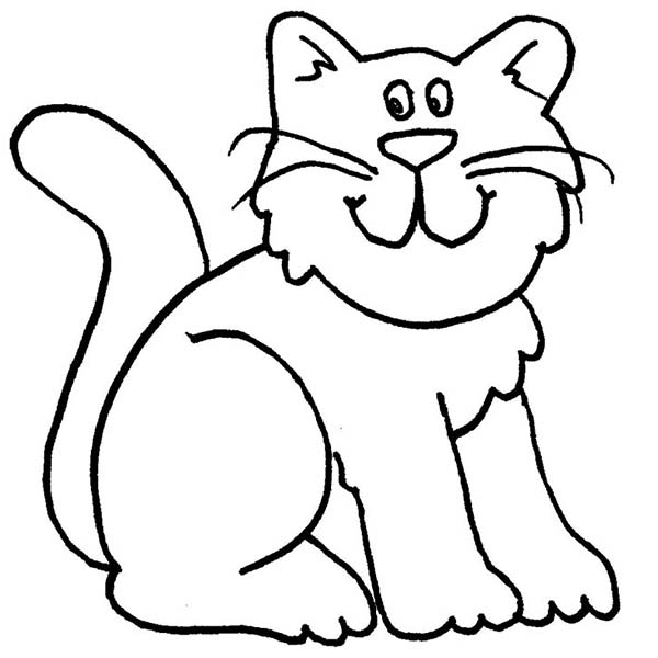 cat clipart coloring cat coloring pages clipart coloring cat