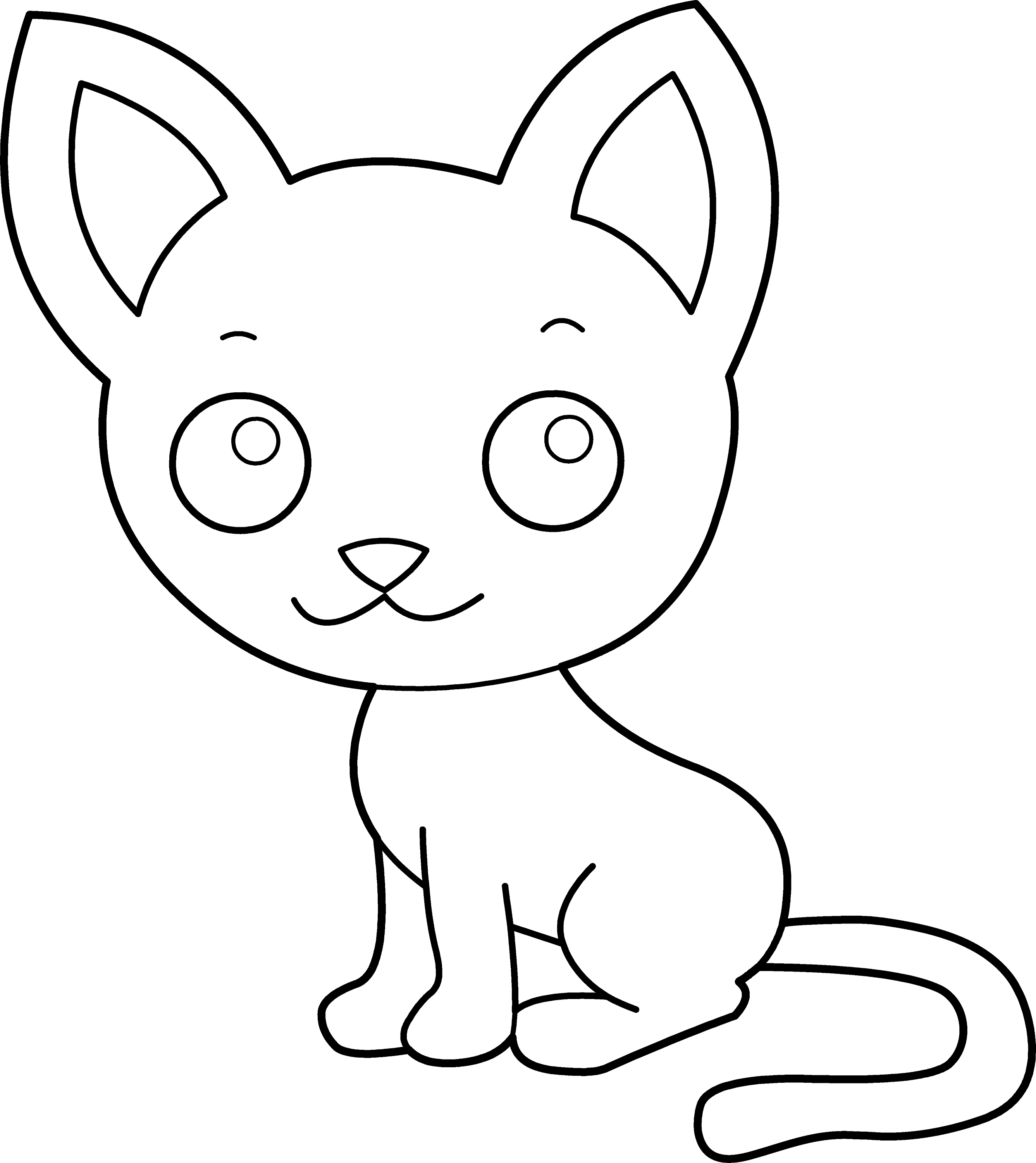 cat clipart coloring cat coloring pages free download on clipartmag coloring clipart cat