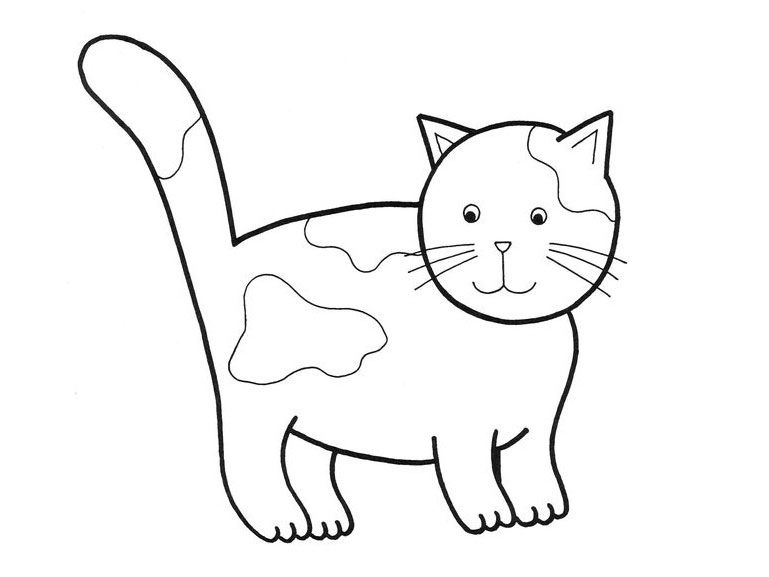 cat clipart coloring cute coloring pages of baby chubby cat clipart 20 free clipart cat coloring