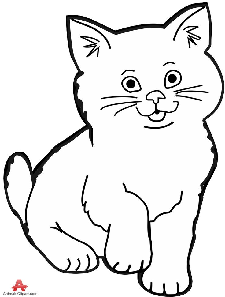 cat clipart coloring free line art cat download free clip art free clip art coloring cat clipart