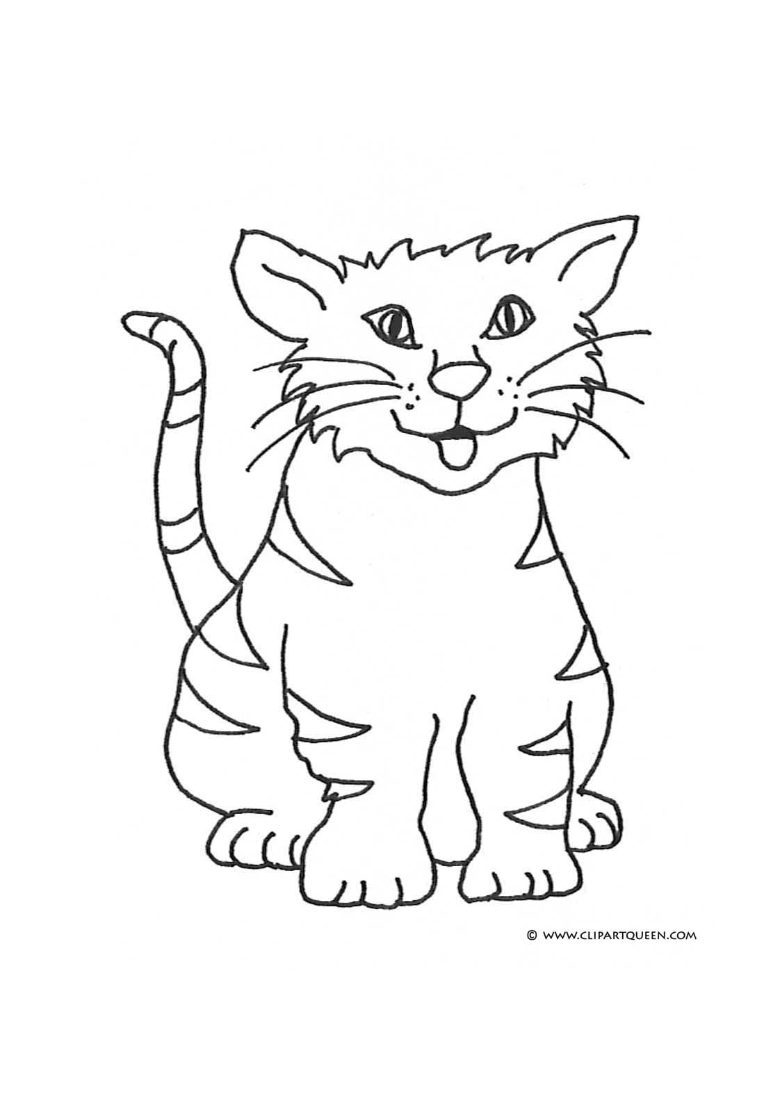 cat clipart coloring free printable kitten coloring pages for kids best clipart cat coloring