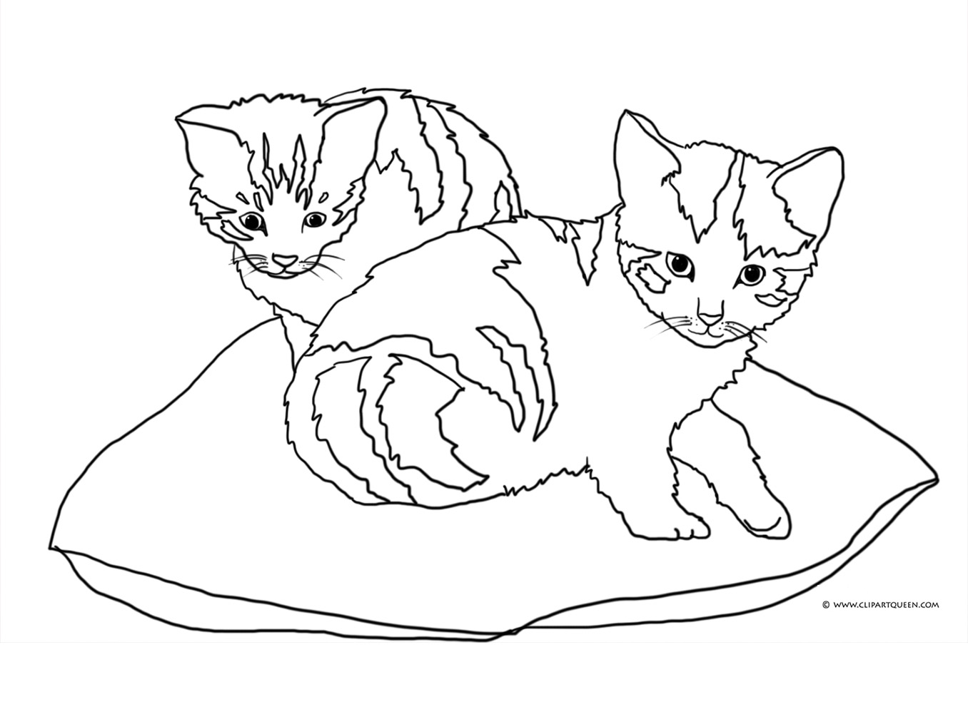cat clipart coloring kitten coloring pages best coloring pages for kids coloring cat clipart