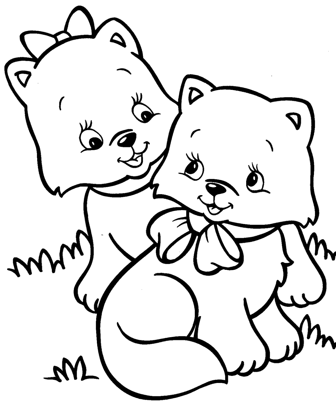 cat coloring book cat for kids simple drawing cats kids coloring pages cat book coloring