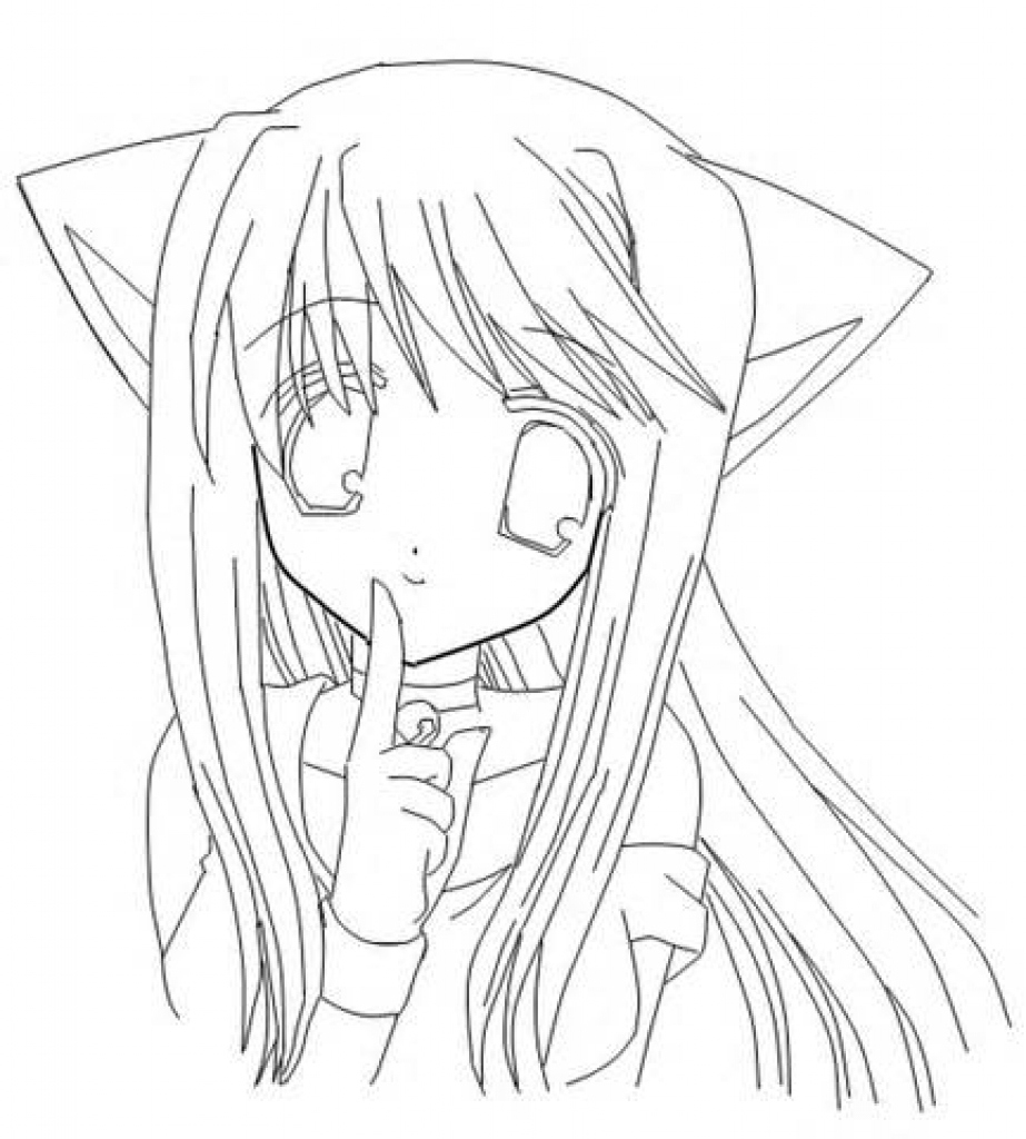 cat girl coloring pages anime cat girl coloring pages at getdrawings free download girl cat pages coloring