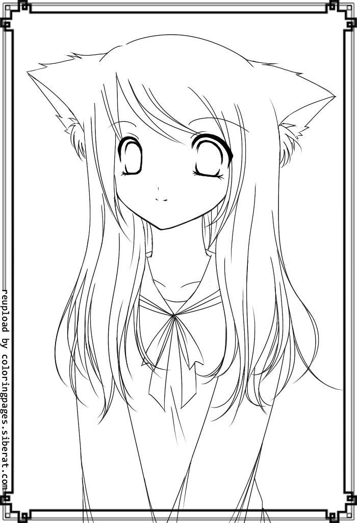 cat girl coloring pages anime cat girl coloring pages coloring home cat pages girl coloring