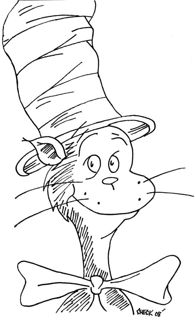 cat in the hat pictures to color cat in the hat coloring pages cat color hat to in pictures the