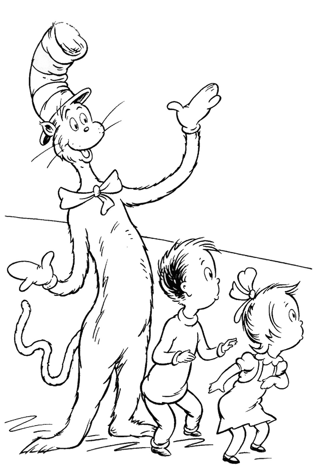 cat in the hat pictures to color cat in the hat coloring pages color in hat to cat pictures the