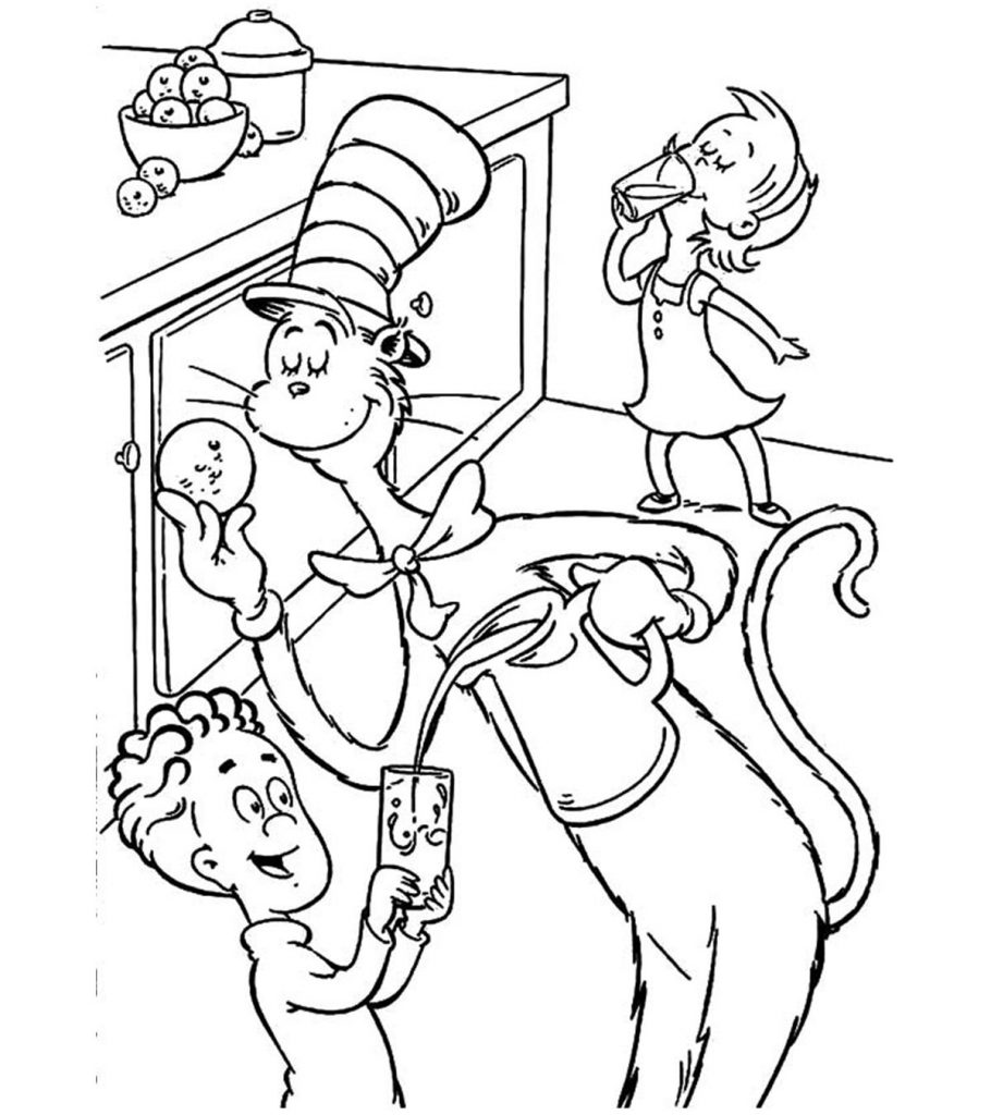 cat in the hat pictures to color cat in the hat coloring pages hat pictures cat in color to the