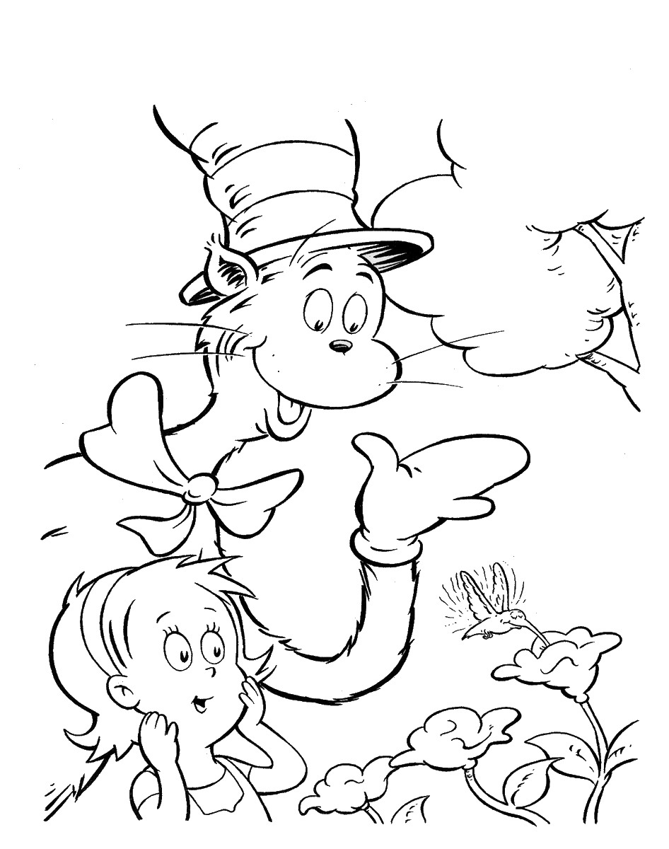 cat in the hat pictures to color cat in the hat coloring pages in hat the pictures to color cat