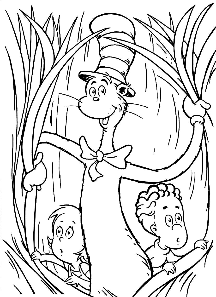 cat in the hat pictures to color cat in the hat coloring pages to color cat hat pictures in the