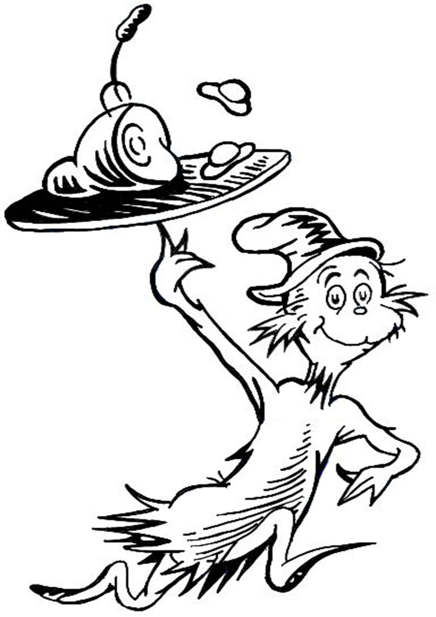 cat in the hat pictures to color cat in the hat pictures to print coloring home cat hat the to in pictures color
