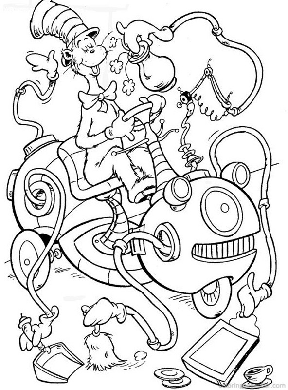 cat in the hat pictures to color drawing dr seuss the cat in the hat coloring page color luna cat hat pictures in to the color