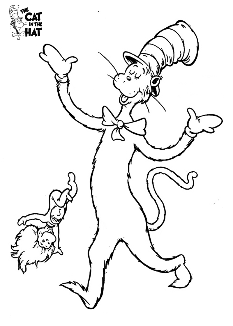 cat in the hat pictures to color the cat in the hat coloring page free printable coloring cat the hat in color pictures to
