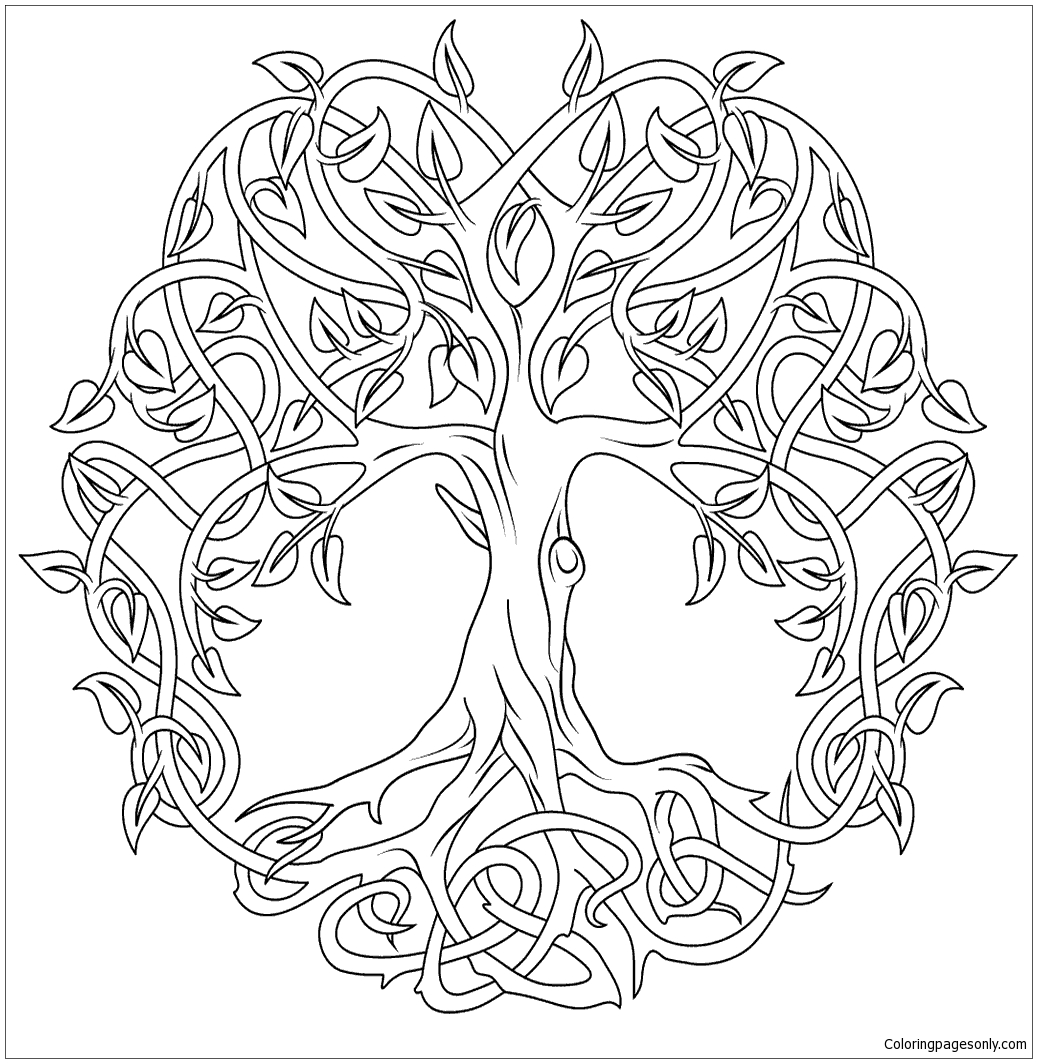 celtic coloring book celtic tree of life coloring page free coloring pages online book celtic coloring
