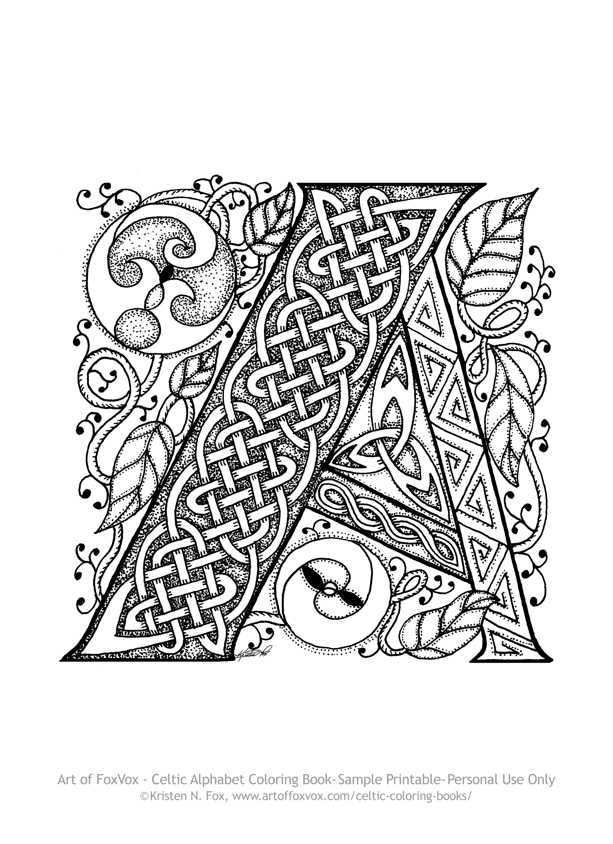 celtic coloring book free celtic letter a page to print and color art of celtic book coloring