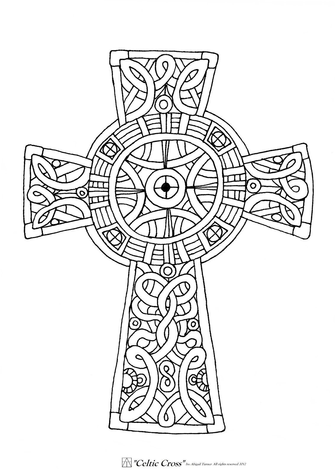 celtic cross coloring celtic cross line drawing at getdrawings free download coloring cross celtic