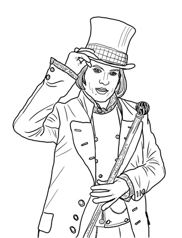 charlie and the chocolate factory coloring sheets willy wonka with johnny depp coloring page free chocolate factory sheets charlie coloring and the