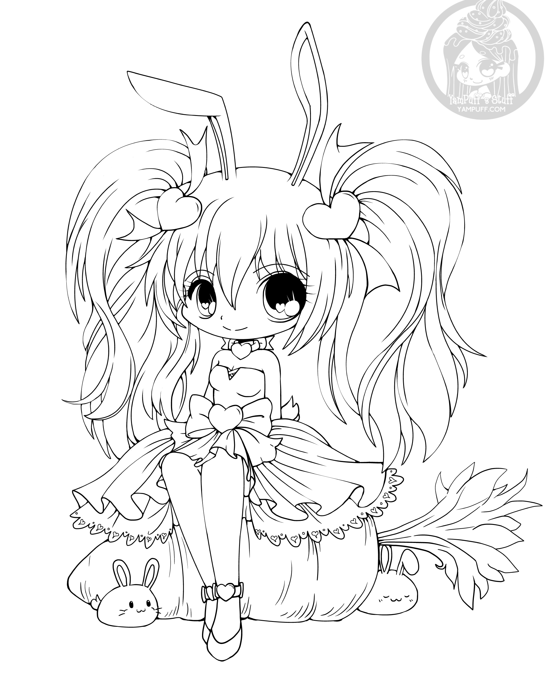 chibi bunny coloring pages chibi hopping bunny coloring pages kids play color bunny coloring chibi pages
