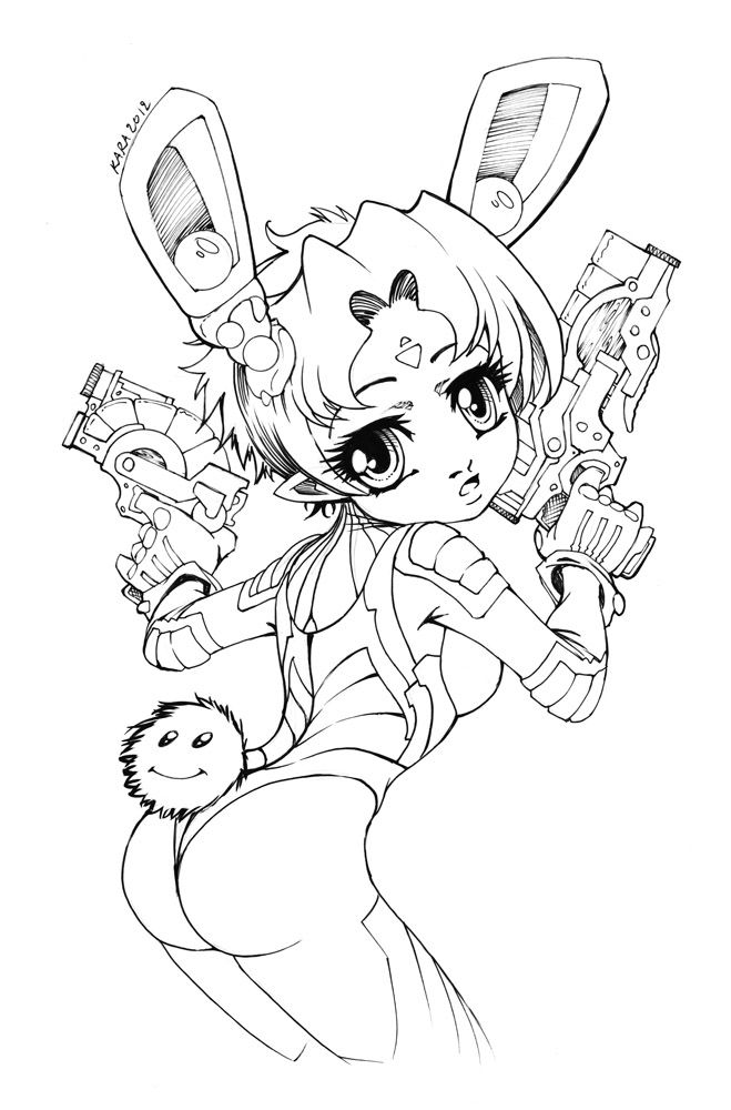 chibi bunny coloring pages cosmo chibi bunny by karafactorydeviantartcom on bunny chibi pages coloring