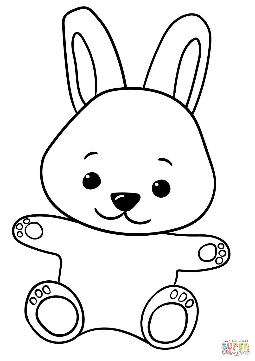 chibi bunny coloring pages cute cartoon bunny coloring page free printable coloring coloring pages chibi bunny