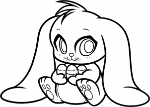 chibi bunny coloring pages easter bunny coloring pages coloring chibi pages bunny