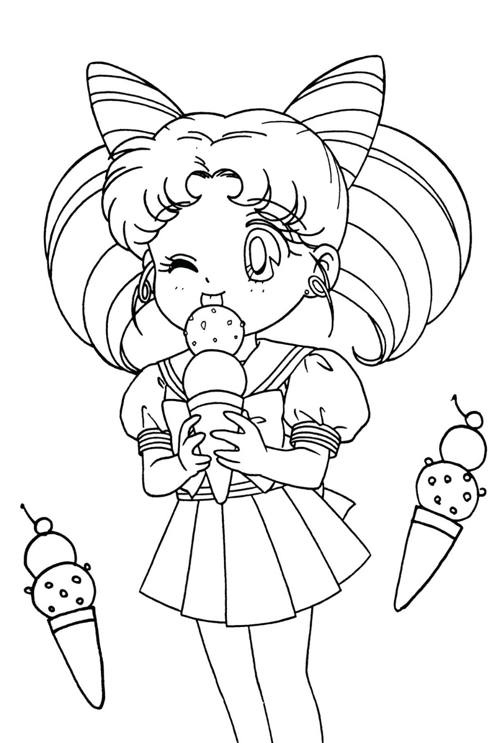 chibi girls coloring pages cute girls coloring pages coloring home chibi girls coloring pages
