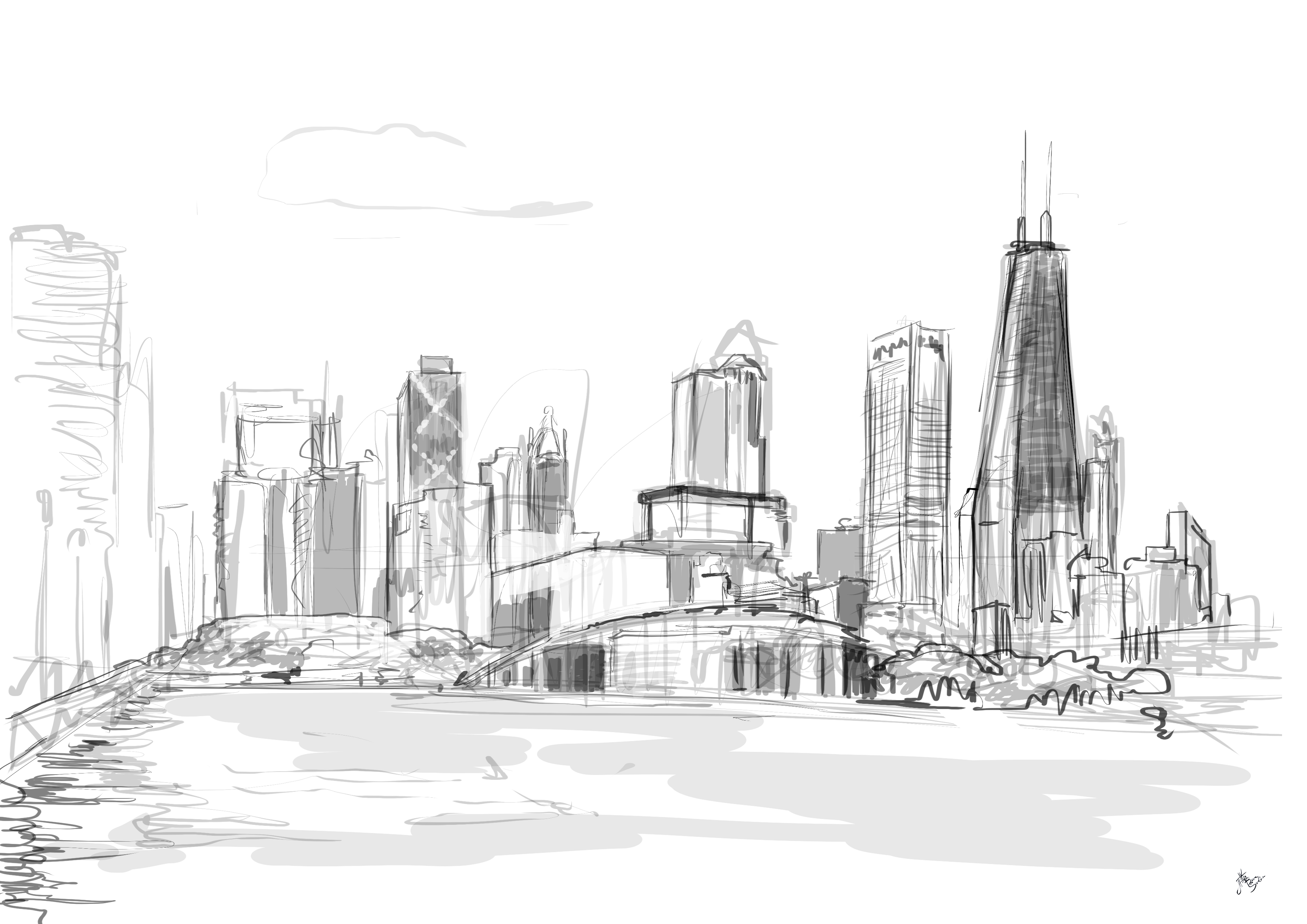 chicago skyline coloring page chicago illinois skyline coloring page download chicago page skyline coloring