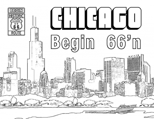 chicago skyline coloring page chicago skyline coloring page at getdrawingscom free page chicago coloring skyline