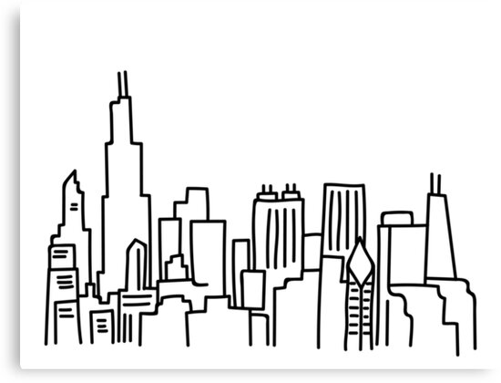 chicago skyline coloring page chicago skyline coloring page cubs pages at getcolorings coloring page chicago skyline