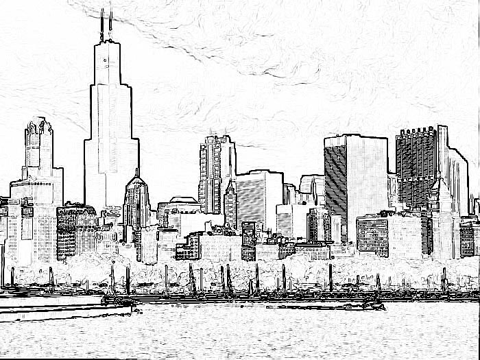 chicago skyline coloring page chicago skyline coloring page sketch coloring page page coloring skyline chicago