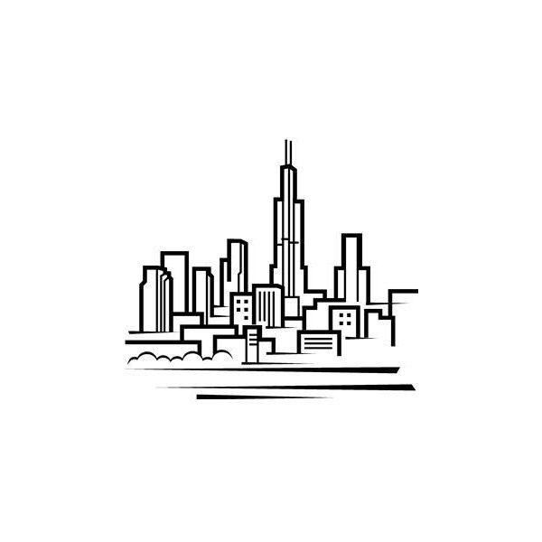chicago skyline coloring page chicago skyline silhouette sketch coloring page page coloring skyline chicago