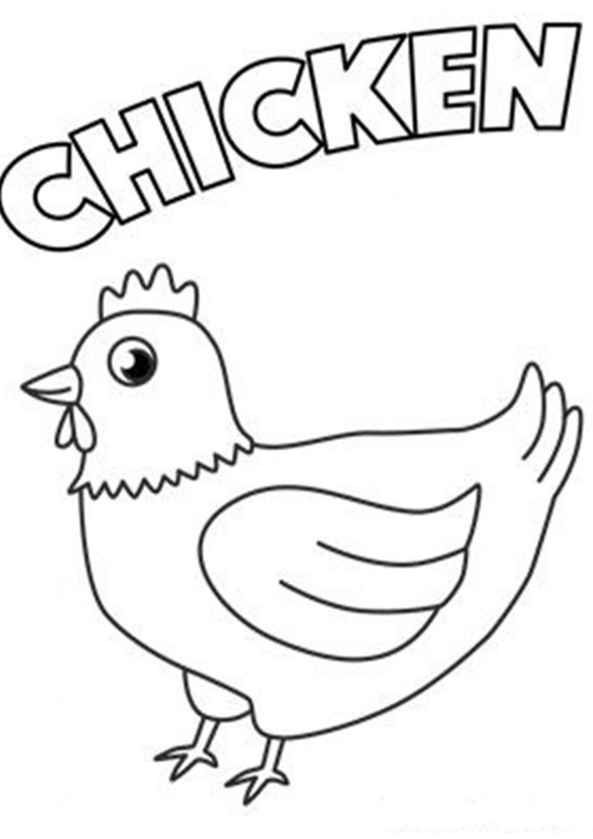 chicken coloring coloring page of a chicken coloring home chicken coloring
