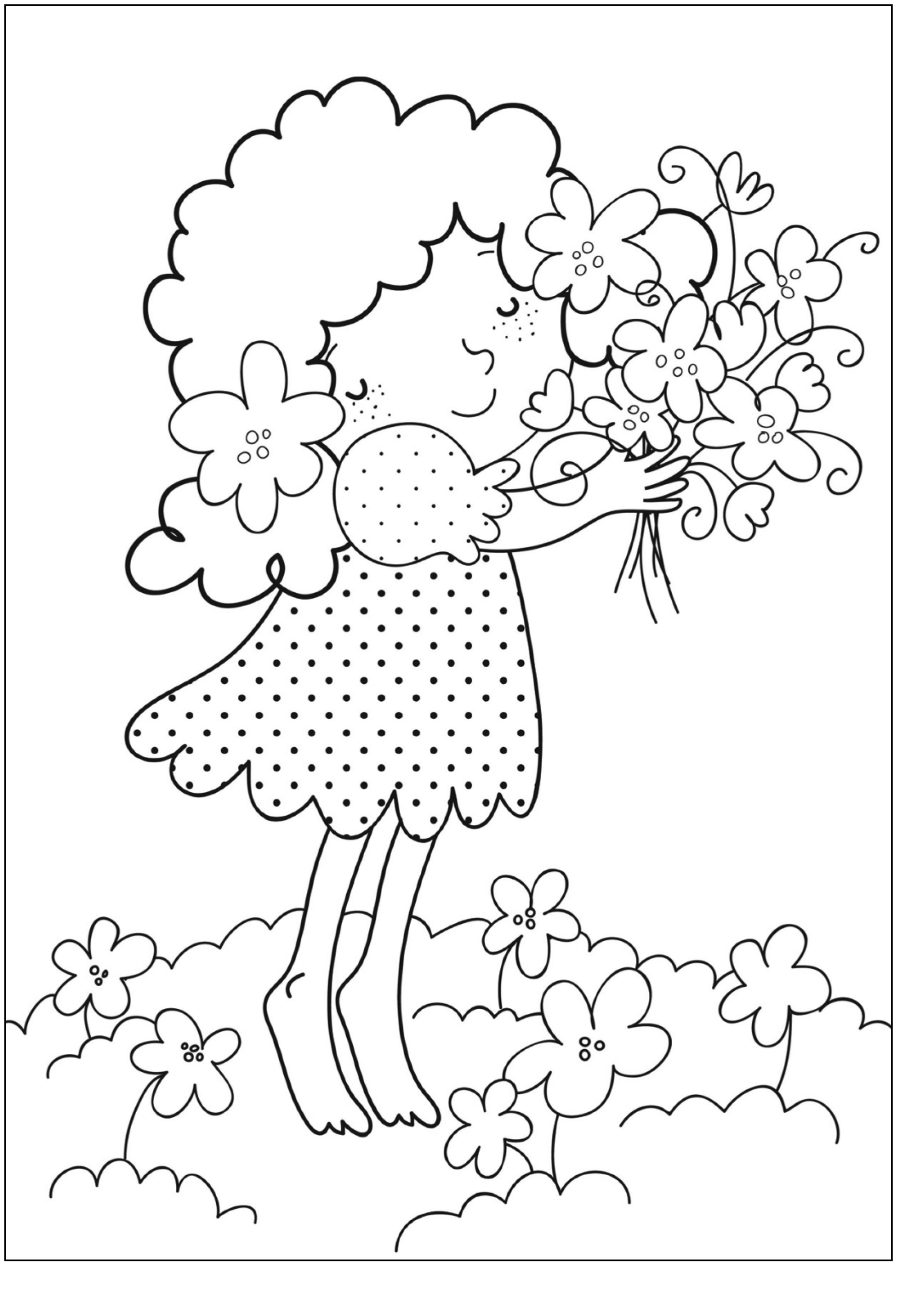 childrens coloring pages flowers childrens coloring pages flowers flowers pages childrens coloring
