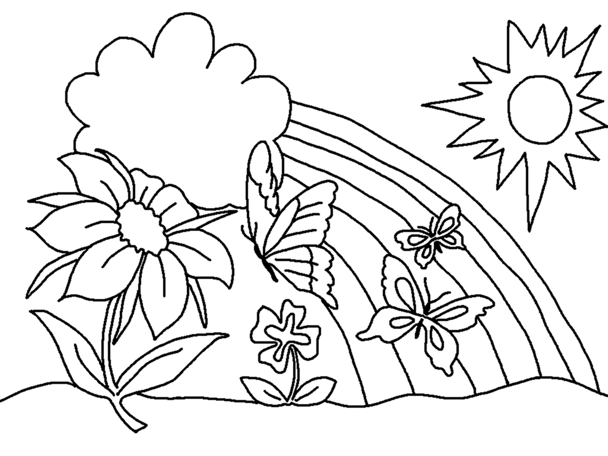 childrens coloring pages flowers flowers coloring pages for kids printable free childrens flowers coloring pages