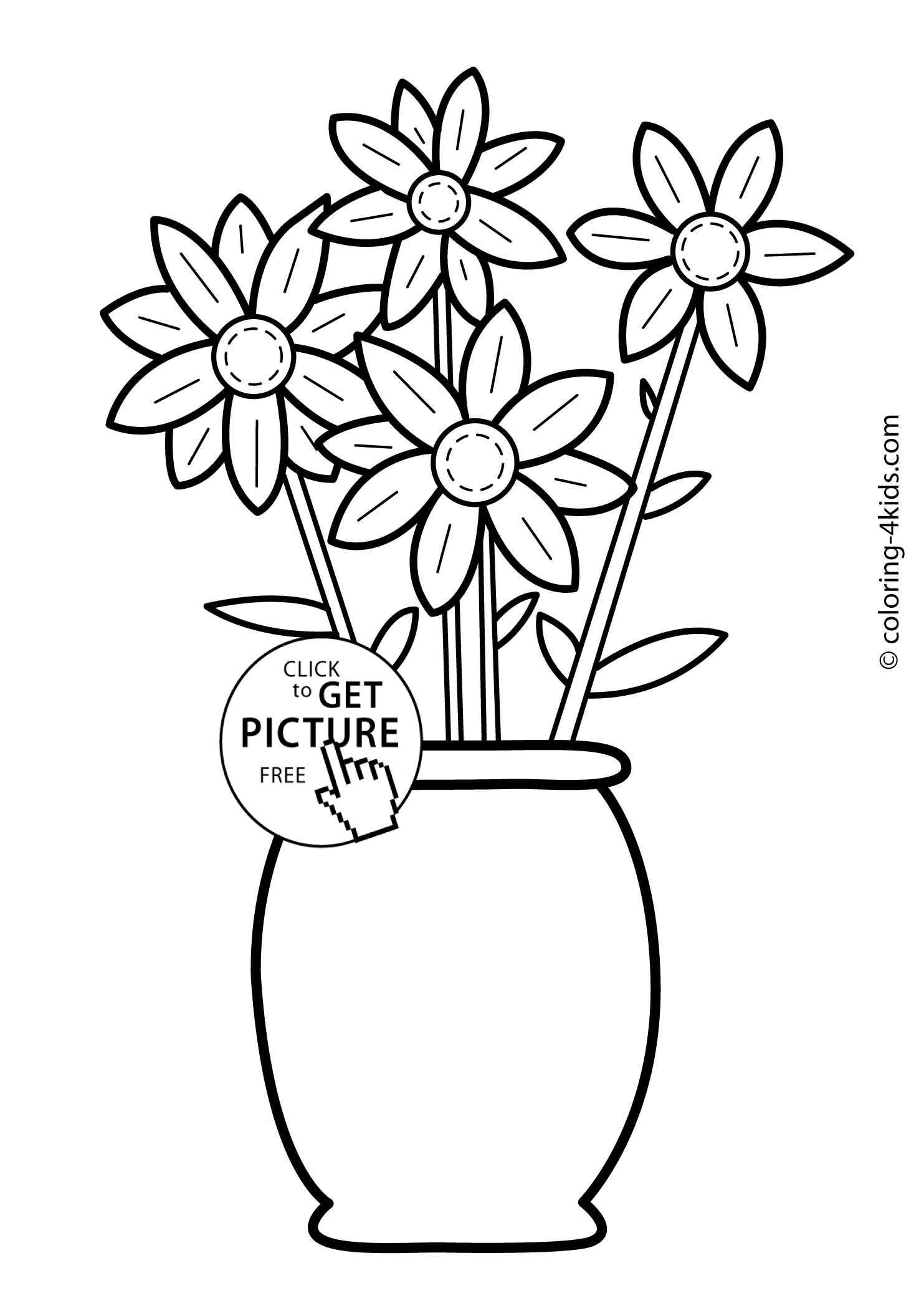 childrens coloring pages flowers free printable flower coloring pages for kids best coloring childrens pages flowers
