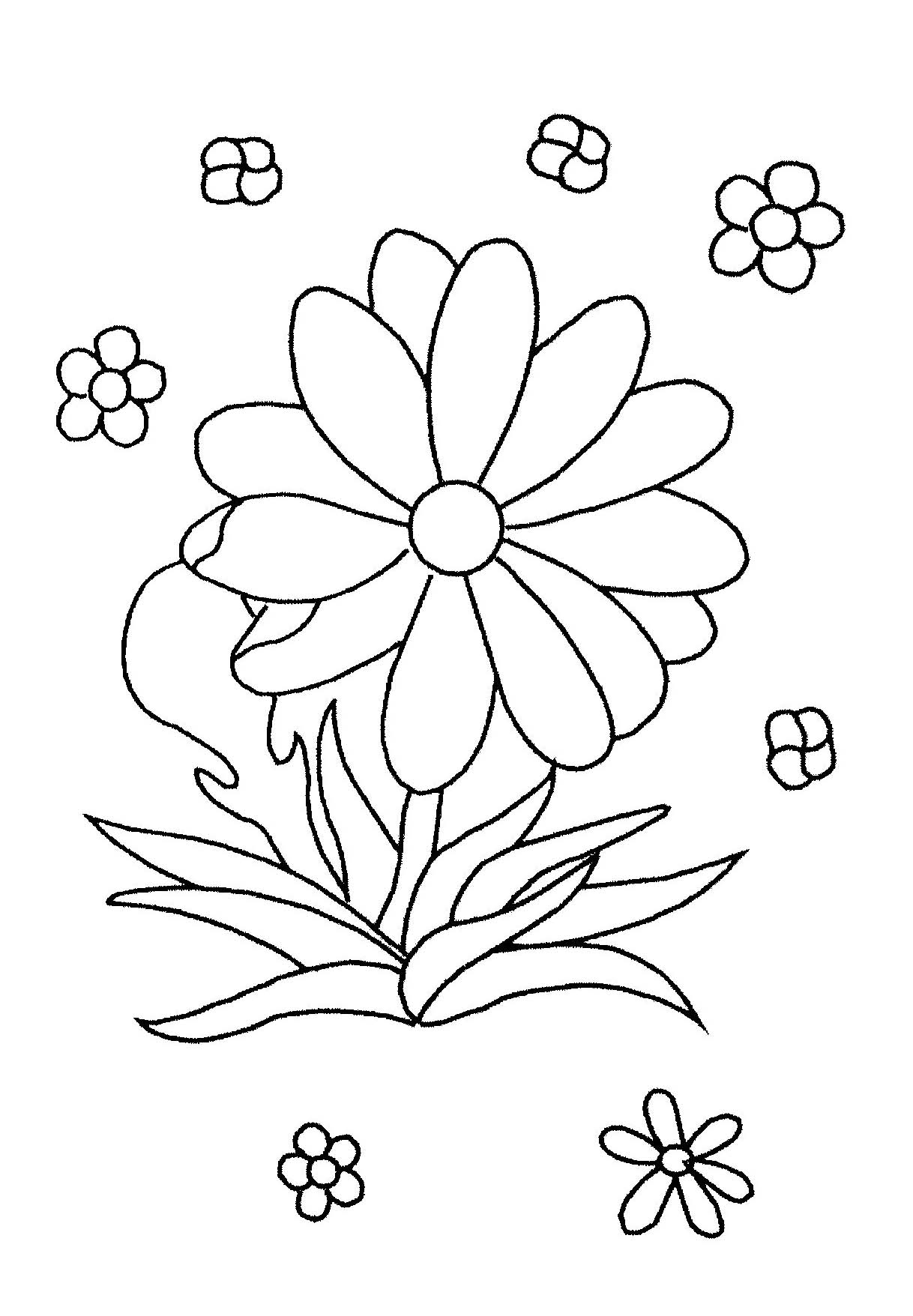 childrens coloring pages flowers print download some common variations of the flower childrens coloring flowers pages