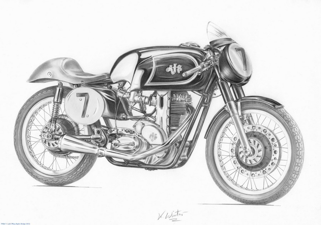 chopper drawing cafe racer pencil drawings by keith winter the bullitt drawing chopper