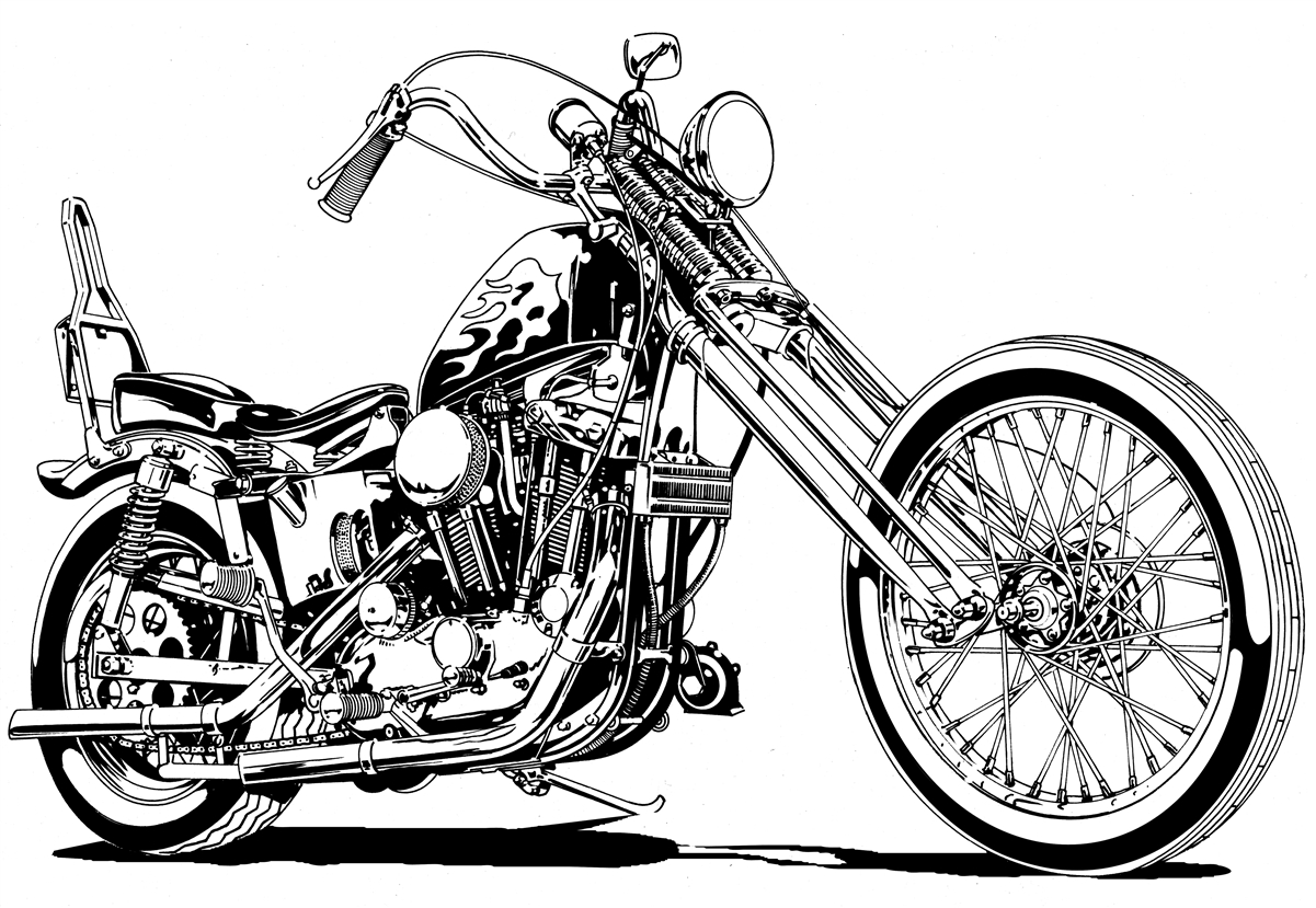chopper drawing concept chopper drawing by z vincent on deviantart chopper drawing