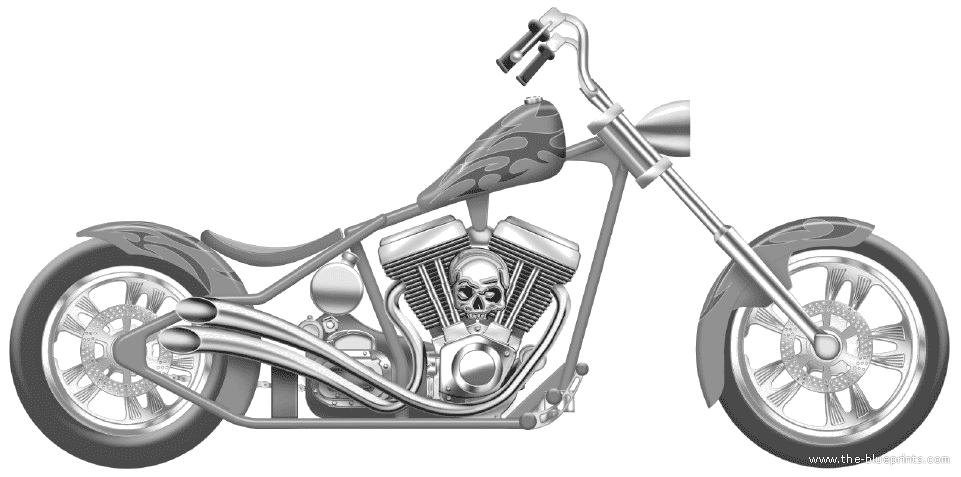 chopper drawing drawing motorcycle front transparent png clipart free chopper drawing
