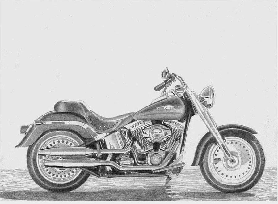 chopper drawing how to draw a motorcycle step by step motorcycles drawing chopper