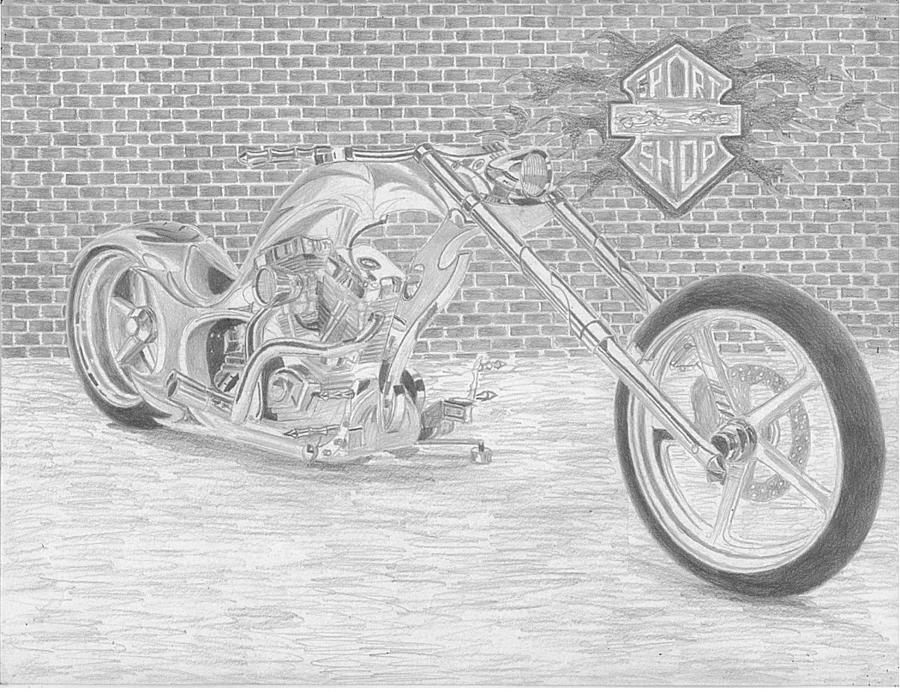 chopper drawing motorcycle chopper drawing at getdrawings free download chopper drawing