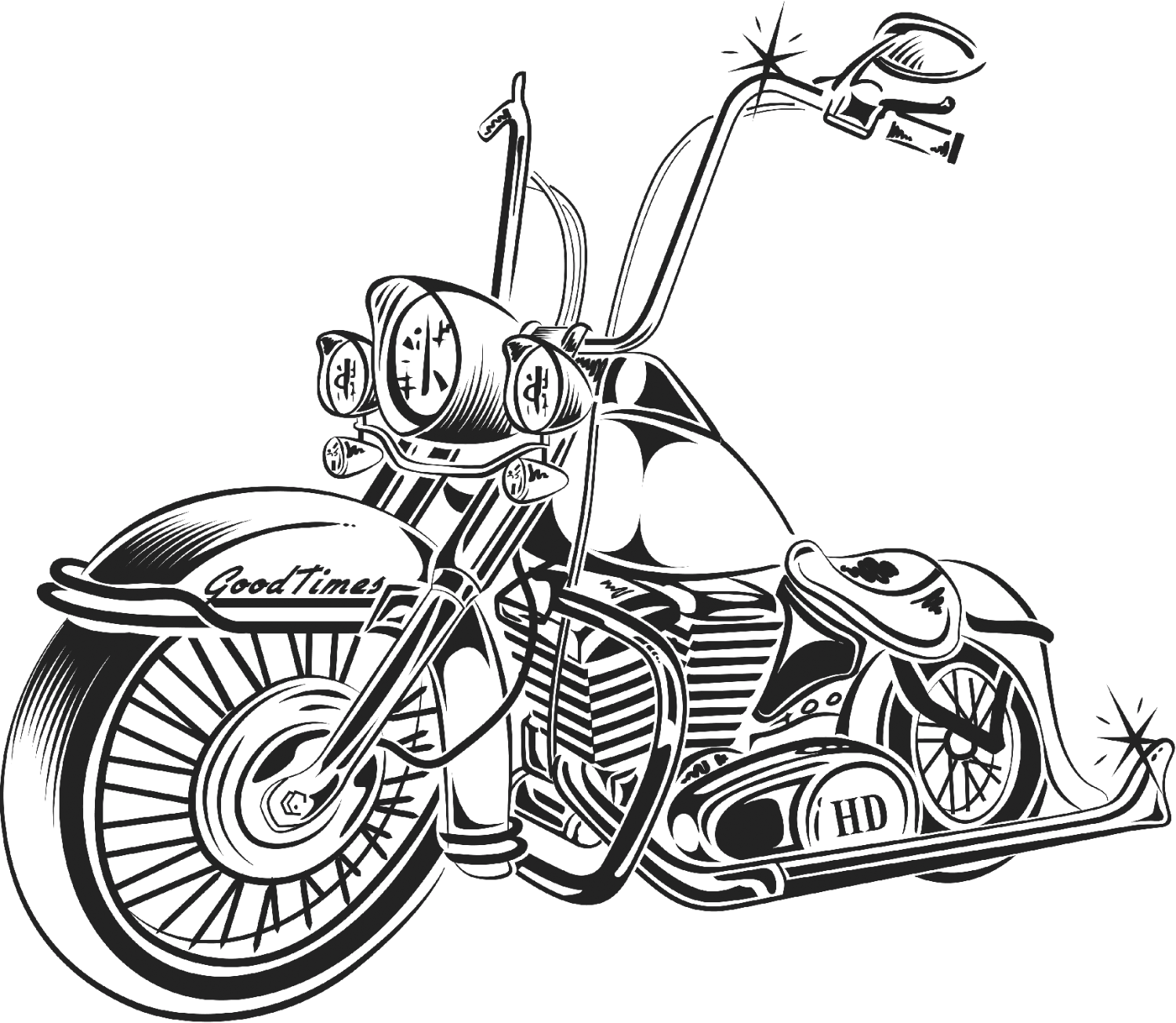 chopper drawing motorcycle chopper drawing at paintingvalleycom explore chopper drawing