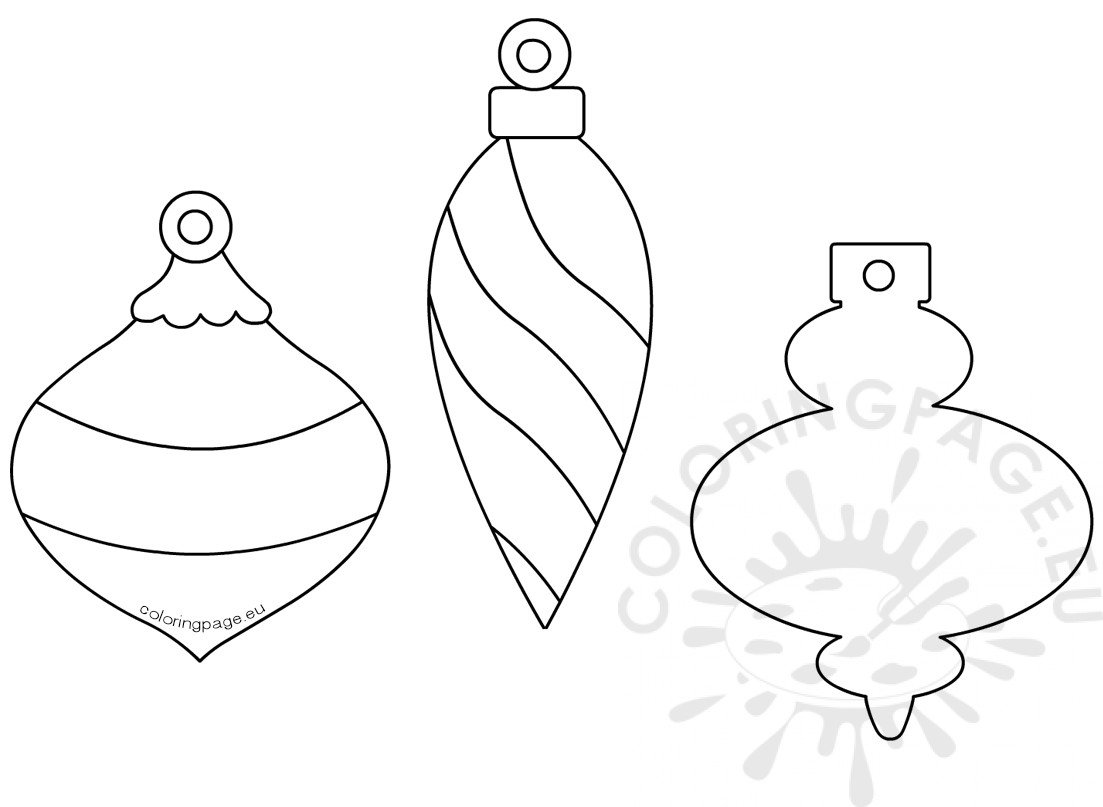 christmas baubles templates to colour christmas baubles coloring page christmas templates baubles to colour