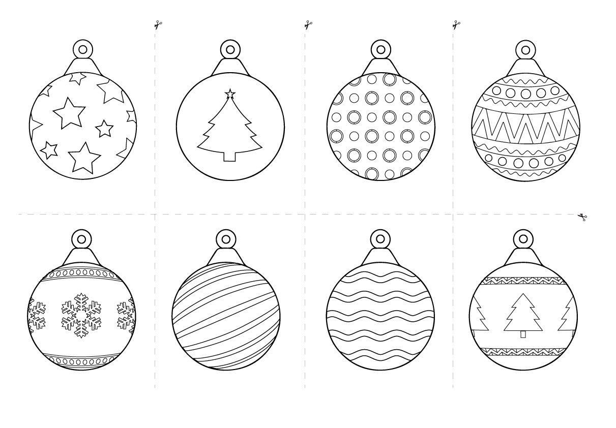 christmas baubles templates to colour free christmas printables for kids rss templates baubles colour christmas to