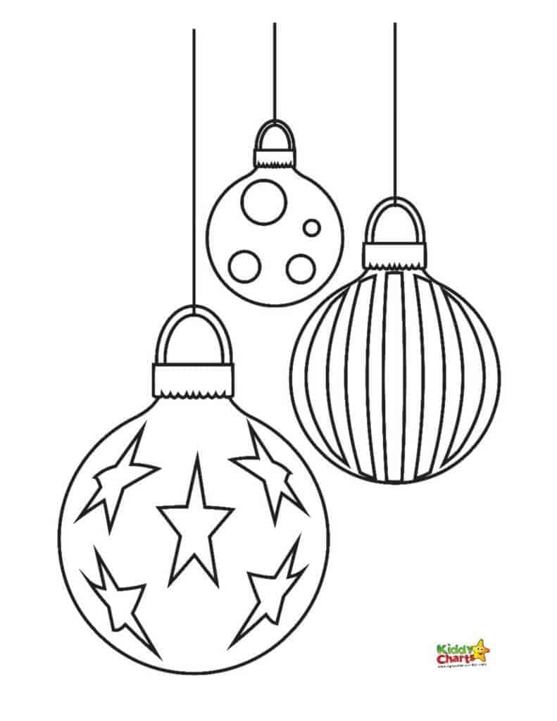 christmas baubles to colour in 9 wonderful winter kids coloring pages in christmas colour baubles to