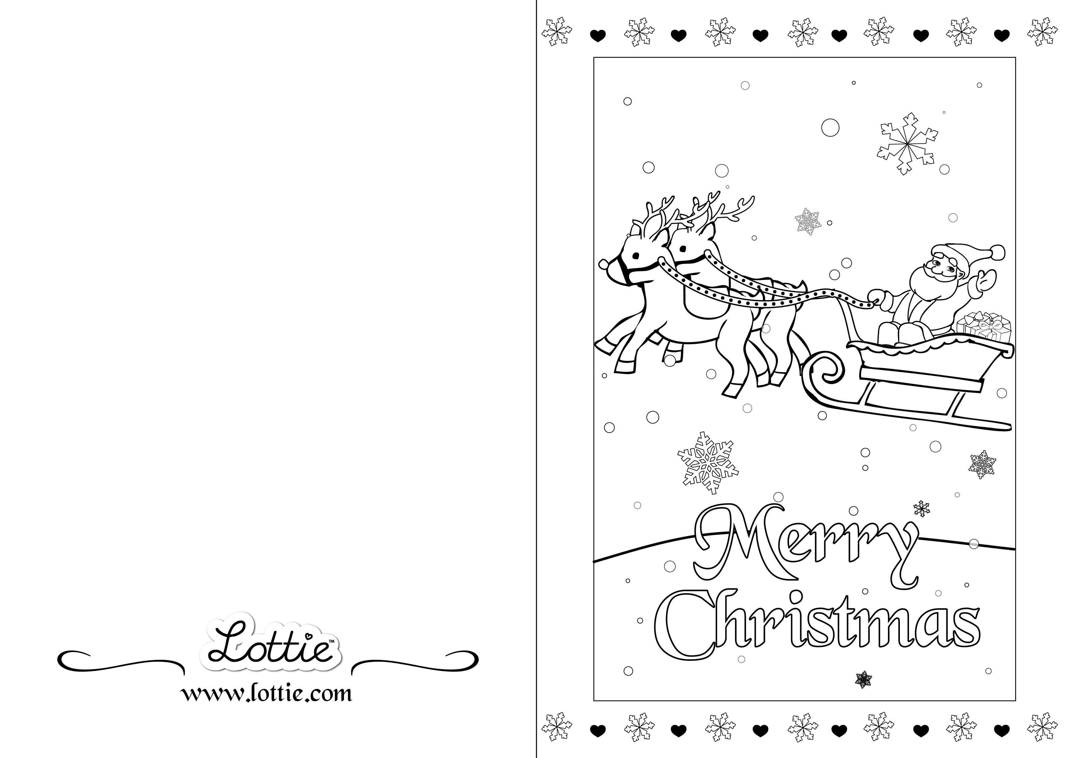 christmas card coloring pages christmas colouring card 3 lottie dolls card coloring pages christmas