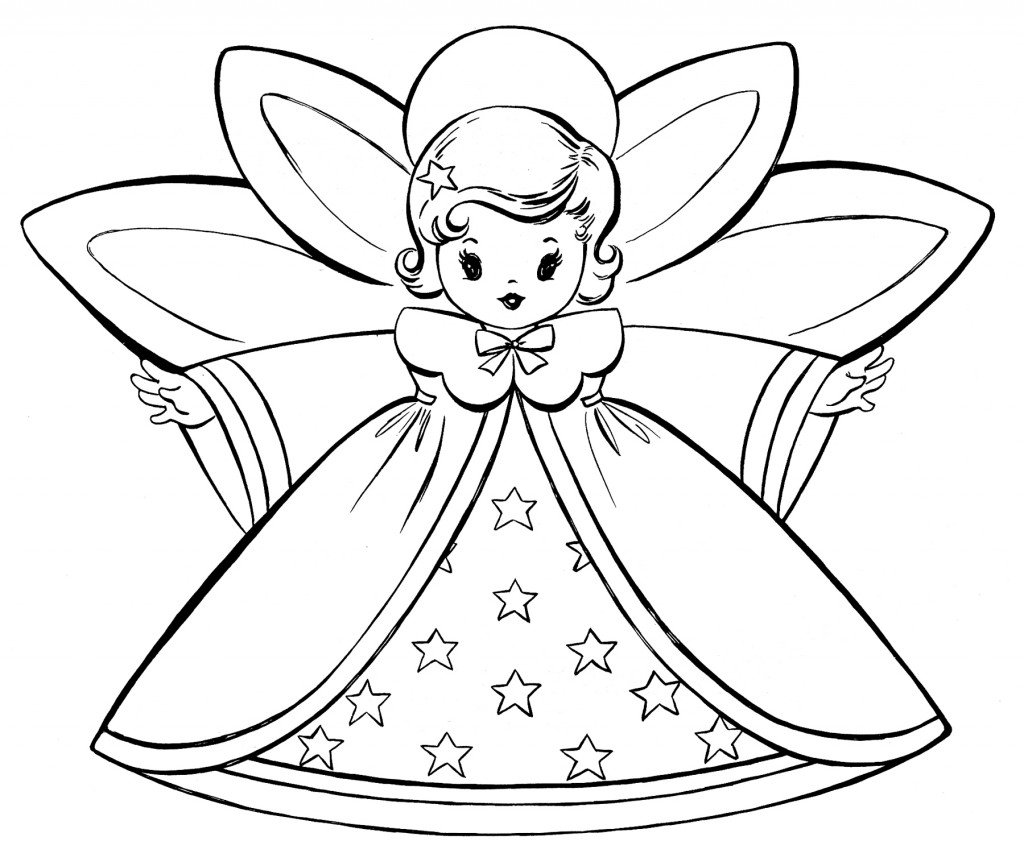 christmas card coloring pages free christmas coloring pages retro angels the coloring pages christmas card