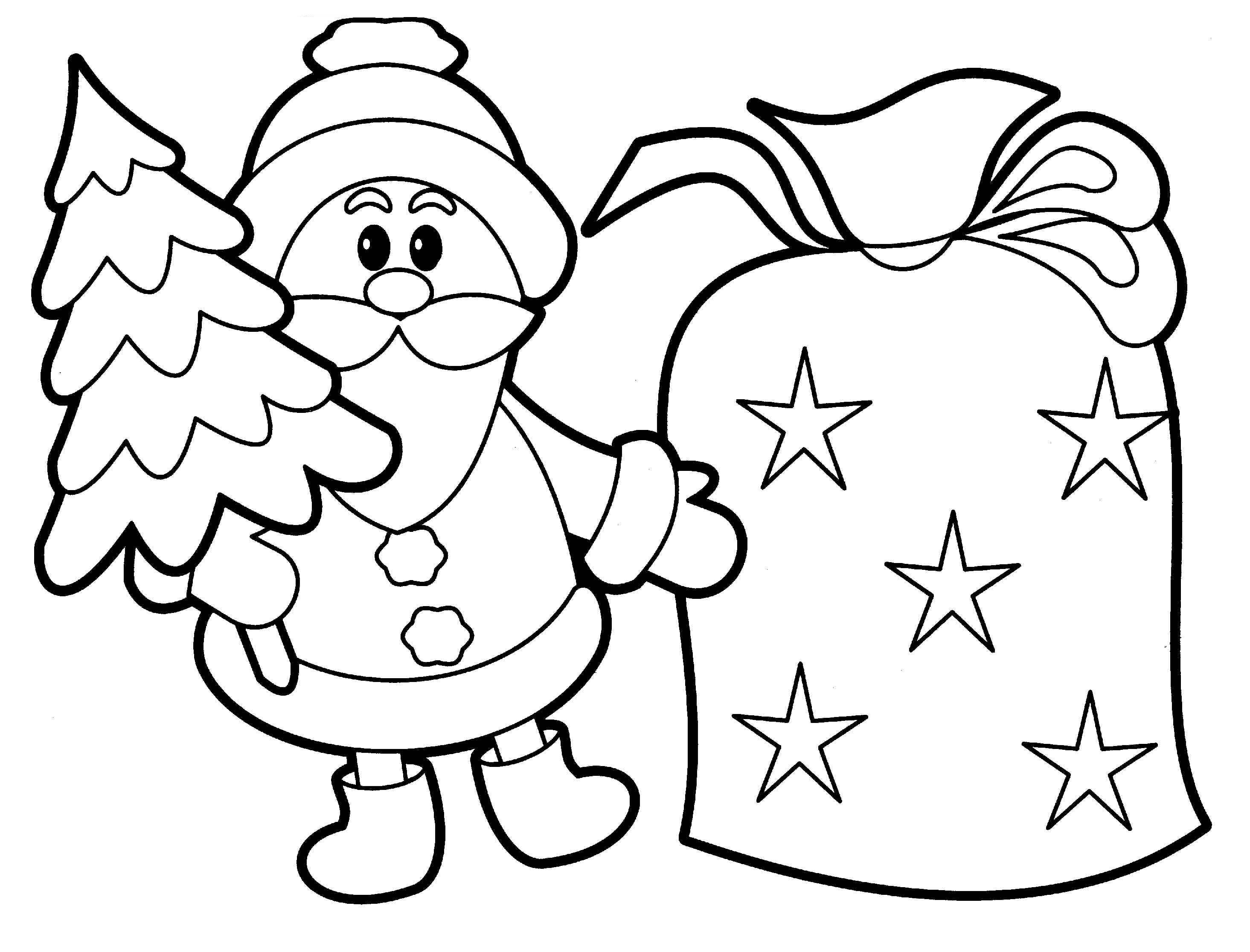 christmas color pages easy preschool coloring pages christmas pages color