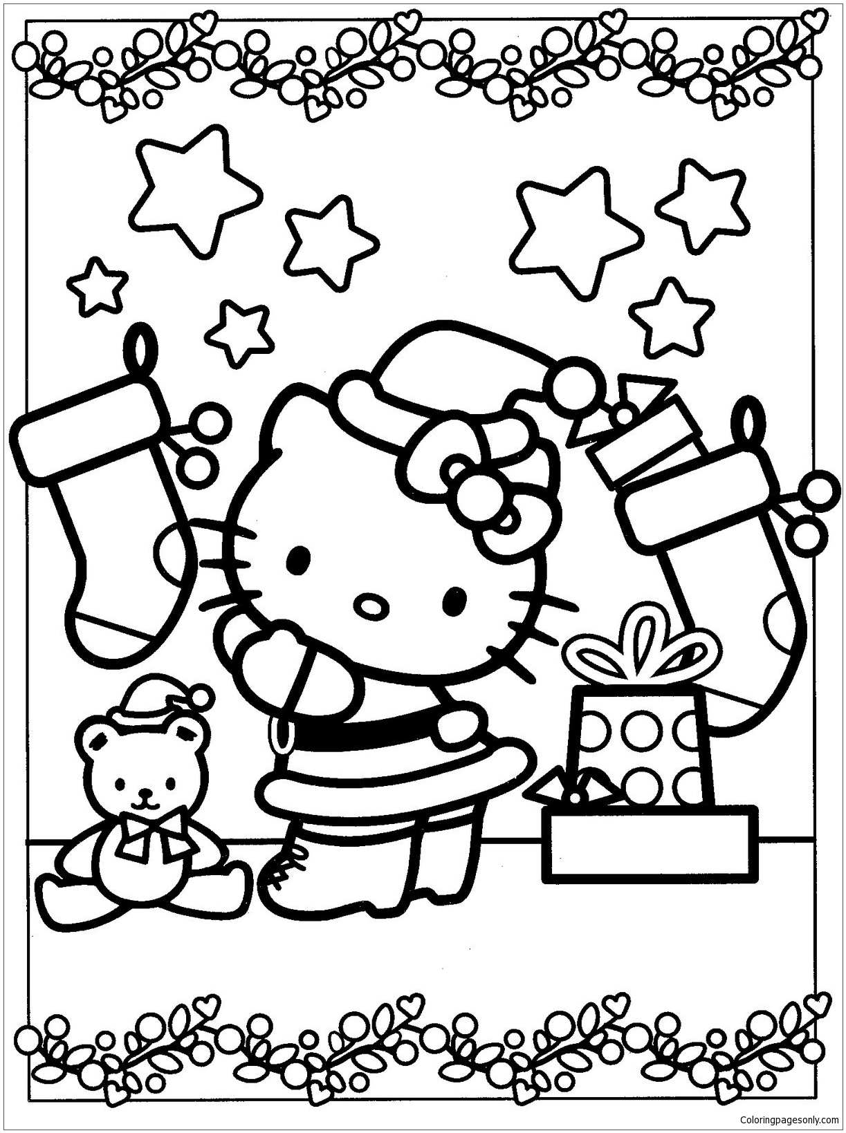christmas hello kitty coloring pages hello kitty christmas coloring page wallpapers9 kitty hello christmas coloring pages